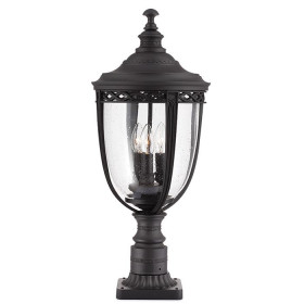 Garten-Stehlampe IP44 3x60W/E14 FE/EB3/L BLK ENGLISH BRIDLE FEISS